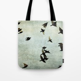 Birds Let's fly Tote Bag