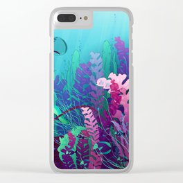 Underwater life Clear iPhone Case