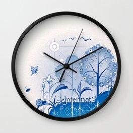 Internat(ure) Wall Clock