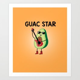 Baesic Guac Star Art Print