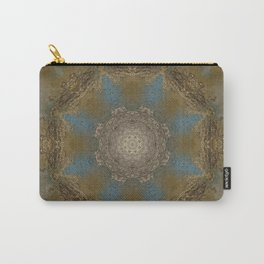 Gold Liquid Turquoise Star Elegance Carry-All Pouch