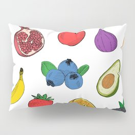 Fruit Salad Drawing Pillow Sham