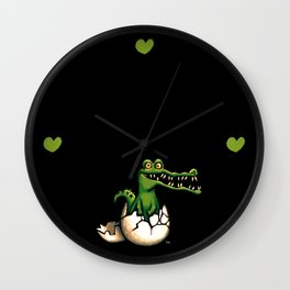 Cocodrilo Wall Clock