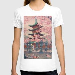 Eight Views of Tokyo - Toshogu Shrine Kasamatsu Shiro Japanese Woodblock Painting Asian Beautiful T-shirt