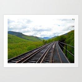 On an outbound train; Art Print