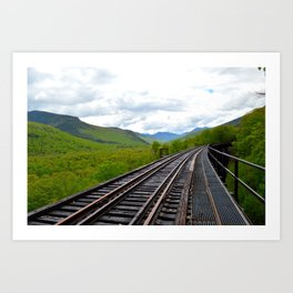 On an outbound train; Art Print
