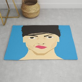 angry emotion unhappy Rug