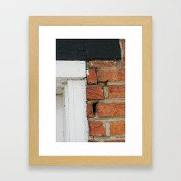 Brick doorframe Framed Art Print