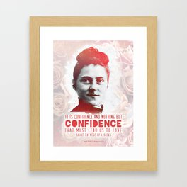 "St. Therese ""CONFIDENCE"" Framed Art Print"
