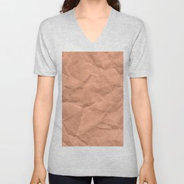 Kraft paper. crumpled paper Unisex V-Neck