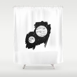 Nothing and everything Shower Curtain
