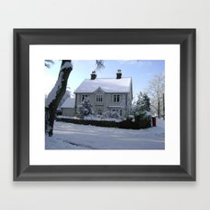 Christmas Cottage Framed Art Print