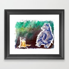Bear Love Framed Art Print