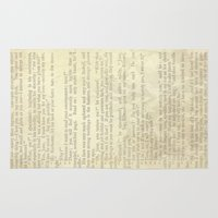 jane eyre Area & Throw Rugs featuring Jane Eyre, Mr. Rochester Proposal by Charlotte Bronte by ForgottenCotton