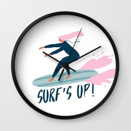 Surf's up! Wall Clock