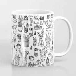 Cute Succulents Pattern Coffee Mug