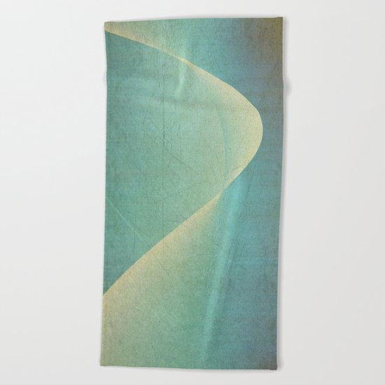 Luminous Wave Beach Towel