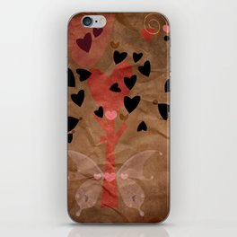 Little tree of love iPhone Skin
