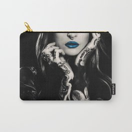 Girl with flowers tattoo Carry-All Pouch