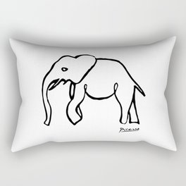 Pablo Picasso, Rare Elephant Drawing, Line Sketch Artwork, Prints, Posters, Bags, Tshirts, Men, Wome Rectangular Pillow