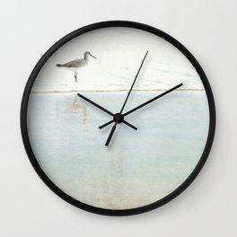 Reflecting Sandpiper Wall Clock