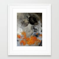 imagerybydianna Framed Art Prints featuring empty hurricane fires by Imagery by dianna