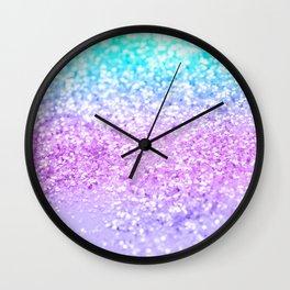 Unicorn Girls Glitter #9 #shiny #decor #art #society6 Wall Clock