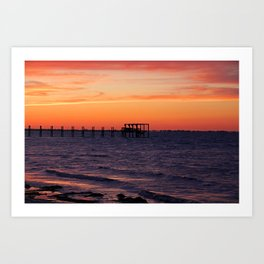Sunset Off Pine Island Art Print