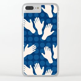 Waving Hands Clear iPhone Case