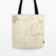 Railroad & The Northwestern States in 1850 Tote Bag