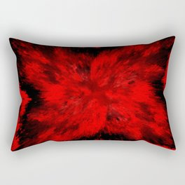 Fire Behind Glass (Red series #11) Rectangular Pillow