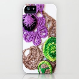 Lilac Lime Romanian Point  Lace Photography  iPhone Case