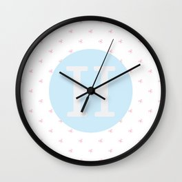H is for Harriet Wall Clock
