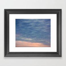 Blanket of Clouds over the Evening Framed Art Print