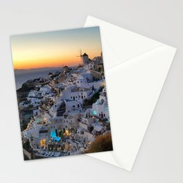 Santorini Oia sunset Stationery Cards
