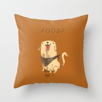 food Throw Pillows featuring food? by Louis Roskosch
