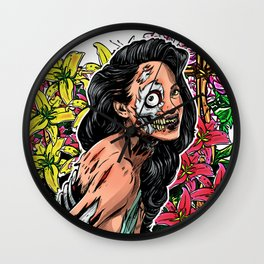 BEAUTIFUL AND FLOWERS Wall Clock