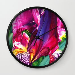 The Queen's Iris Wall Clock