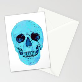 blue skull crystal glow Stationery Cards