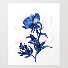 #blue #rose Art Print