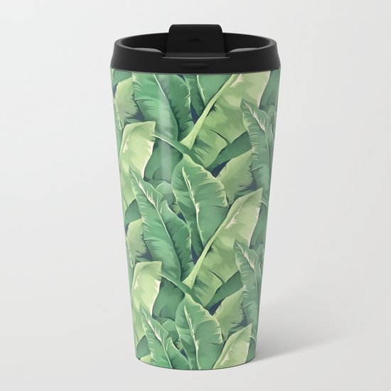 Banana leaves IV Metal Travel Mug