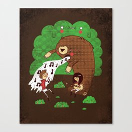 Bear music Canvas Print