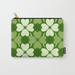 St. Patrick Day Clover 5 - Green Pattern Carry-All Pouch
