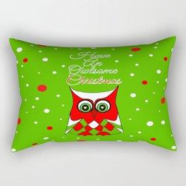 Have An Owlsome Christmas Rectangular Pillow