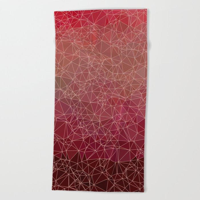 Polygonal A1 Beach Towel