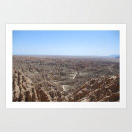California's Grand Canyon (Font's Point - Anza Borrego) Art Print