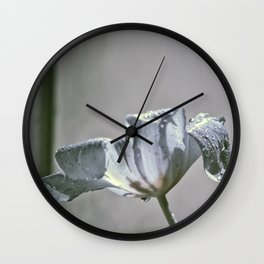 Wet Tulip - Infrared Wall Clock