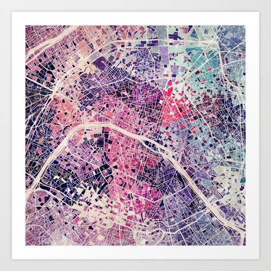 Paris mosaic Art Print