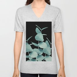 Eucalyptus Leaves Green Black #1 #foliage #decor #art #society6 Unisex V-Neck