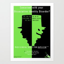 Jekyll Laboratories  Art Print